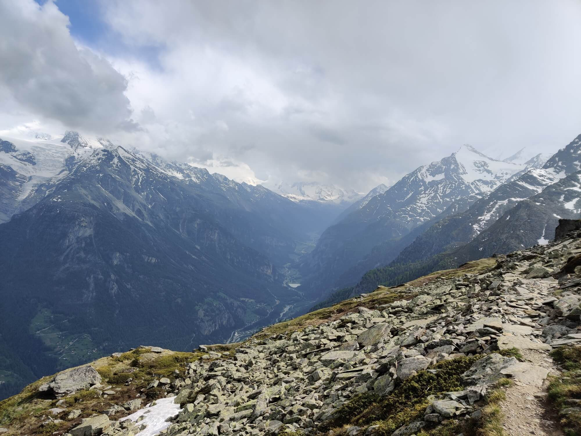 Mattertal Valley:  Once of the best spots for a picnic and a photo on the trail
