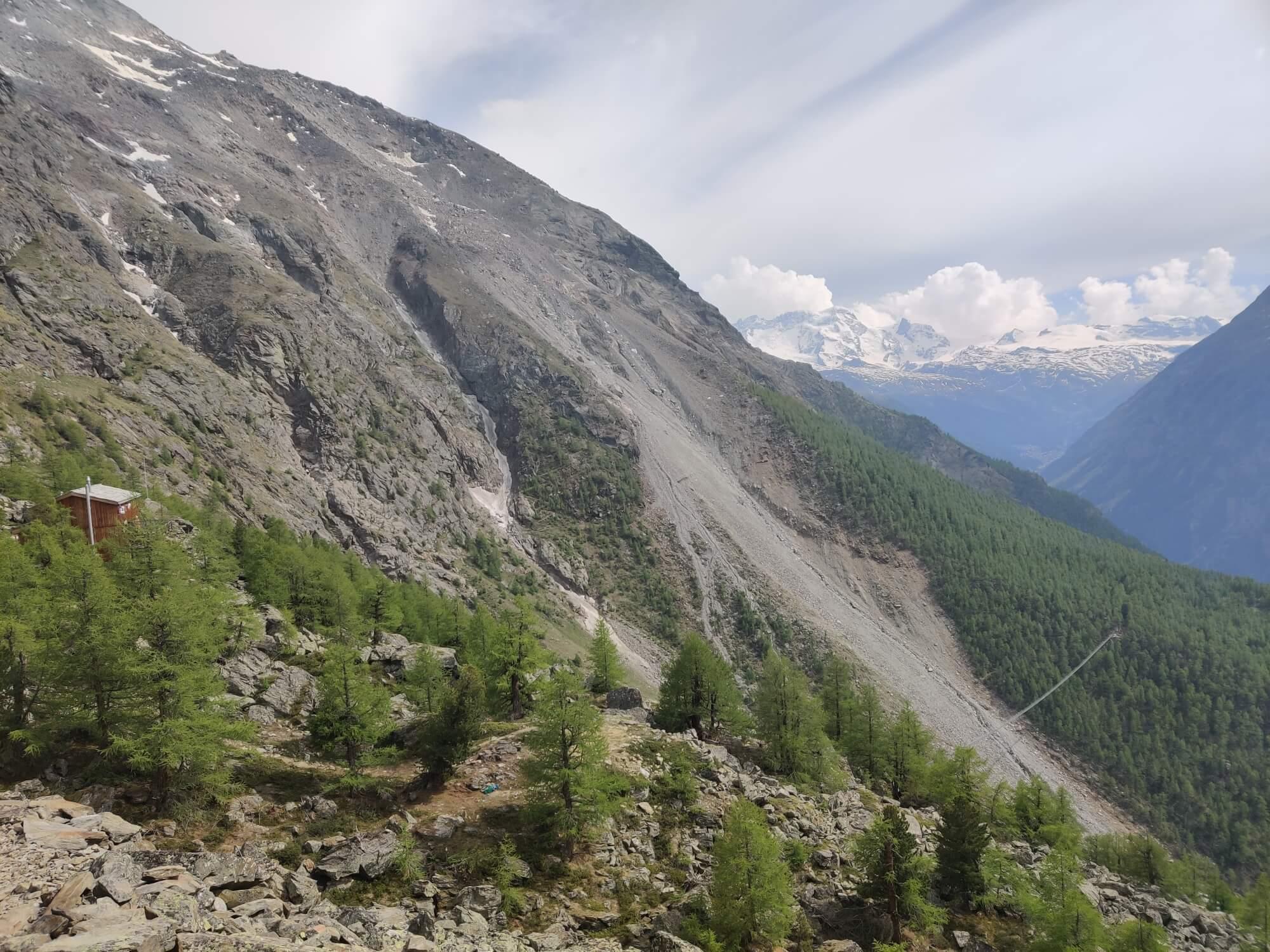 Europahütte and the Suspension Bridge:  Open for the 2019 season