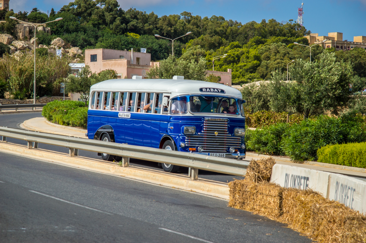 An old maltese bus, today used only for vintage bus tours