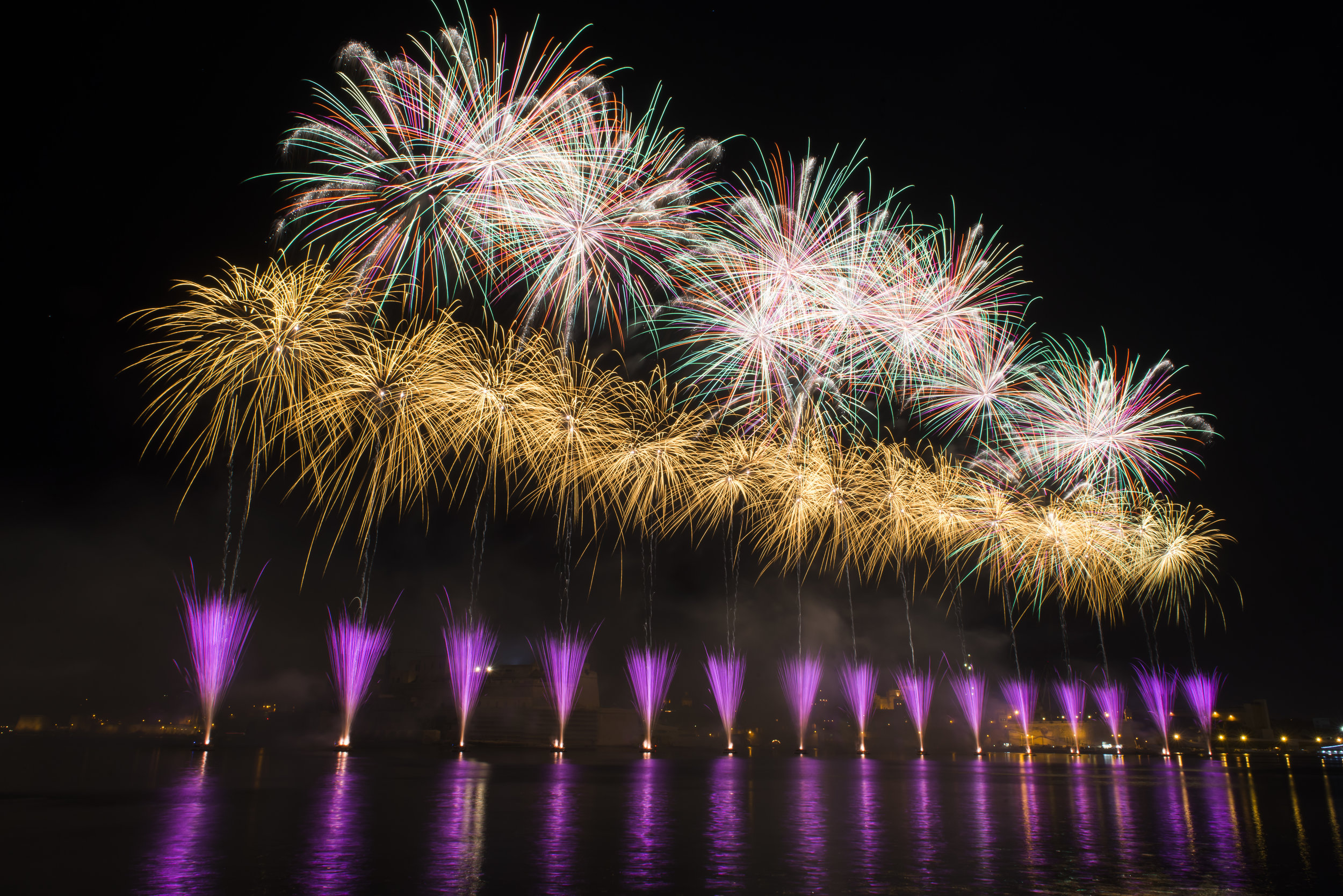 Fireworks in Malta are used to celebrate feasts, new year and landmark events