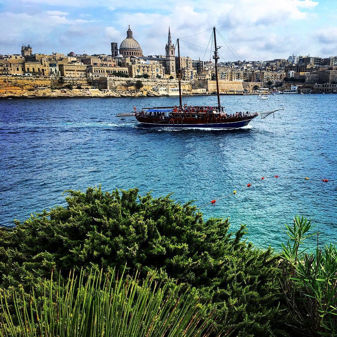 turkish gullet in Marsamxette harbour, malta