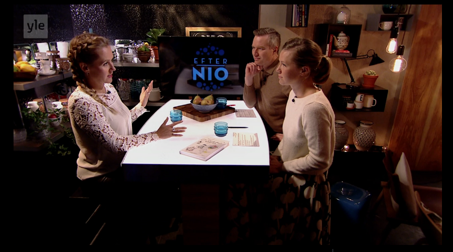 Interview at Efter Nio / Yle Svenska TV, 13.10.2016