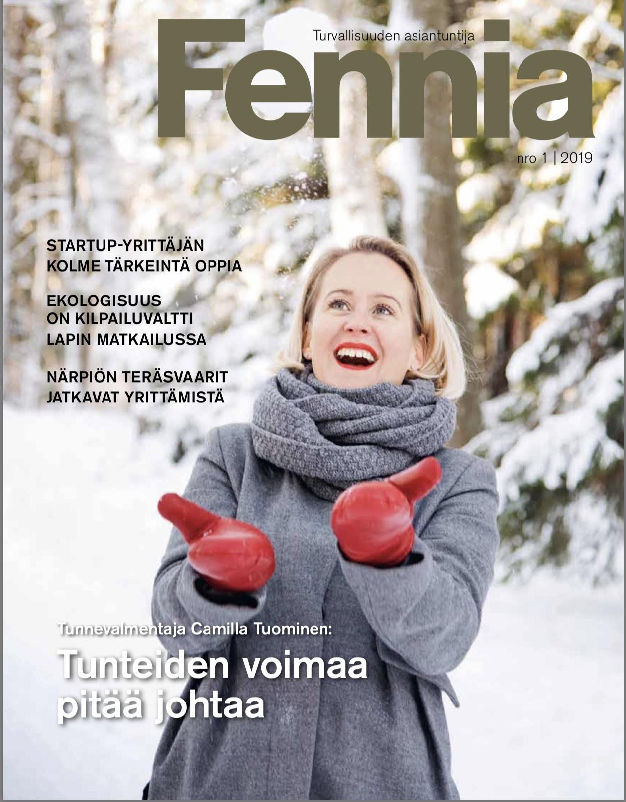 """Fennia:  """"Järki karkaa jos tunteita ei johda""""  01/2019"""