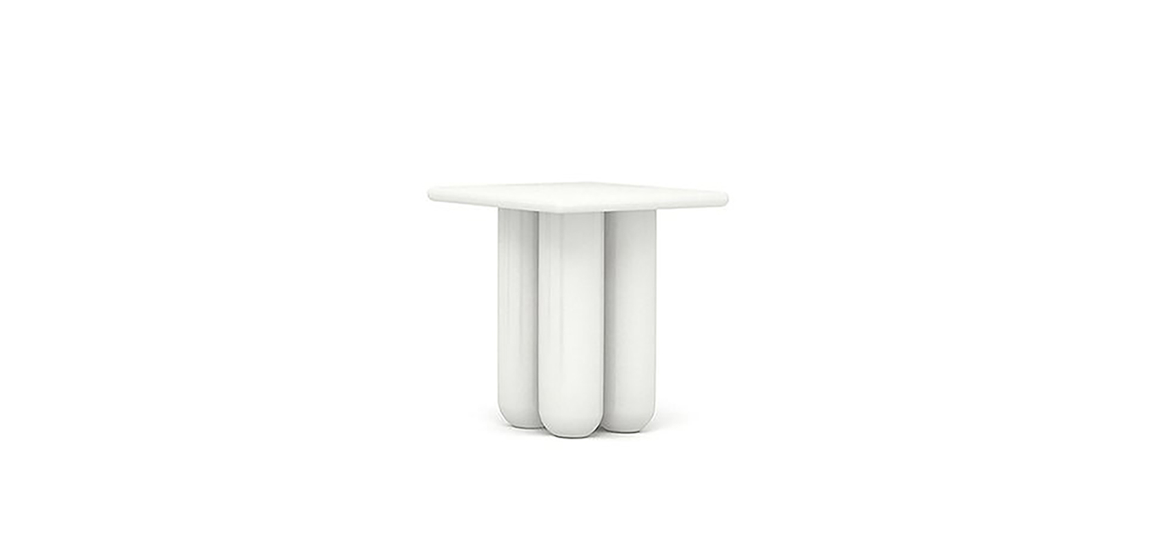 BOLD SIDE TABLE BRAND:  HC28  WEB:   www.hc28.com  The whole shape of Bold Side Table looks rounded and tidy. The legs of Bold Side Table are made of solid wood with neat bright baking finish paint. The top of it can change a variety of materials to mix and match.
