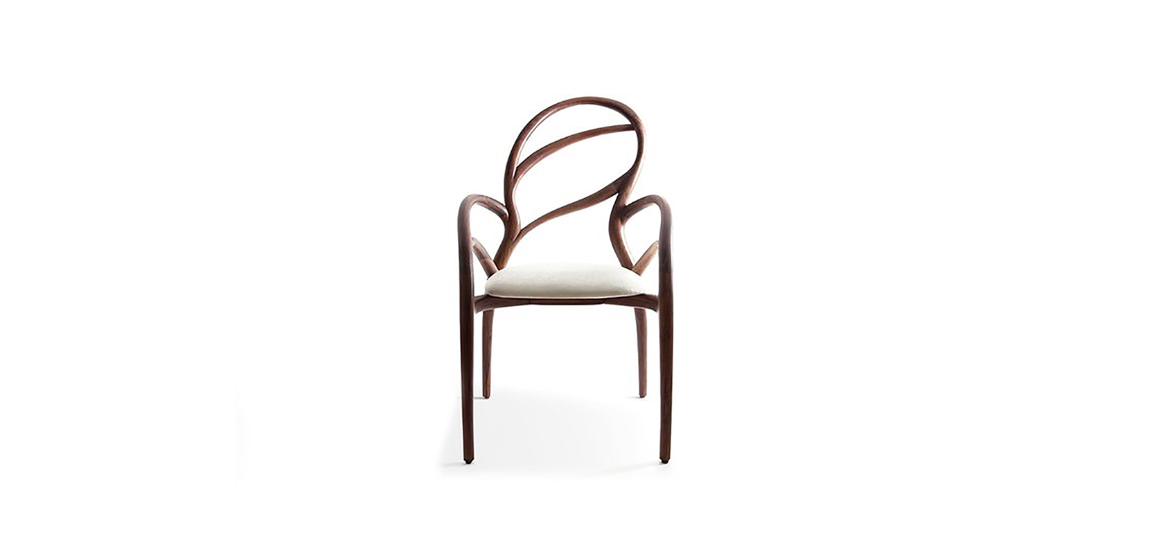 ANGELA CHAIR「LIMITED EDITION」 BRAND:  FRANK CHOU  WEB:  www.frankchou.com Angela chair keeps the normal shape of a chair, but is a limited edition art design work with fine craftsmanship of walnut. The chair was auctioned off in 2012 and 2014.