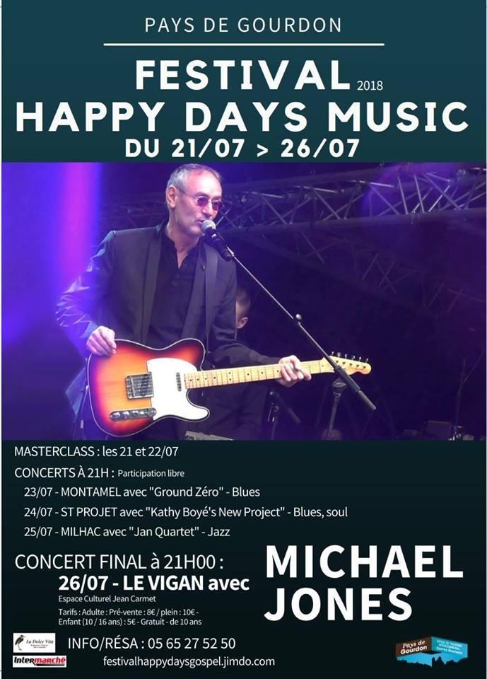 Programmation complète et soutien logistique du Festival HAPPY DAYS MUSIC 2018