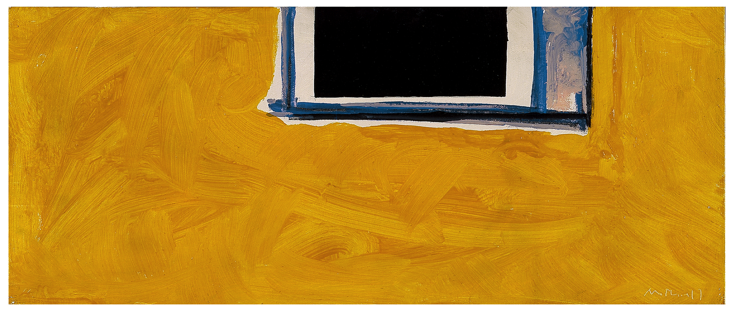 Untitled (Open in Yellow, Black, and Blue), 1970