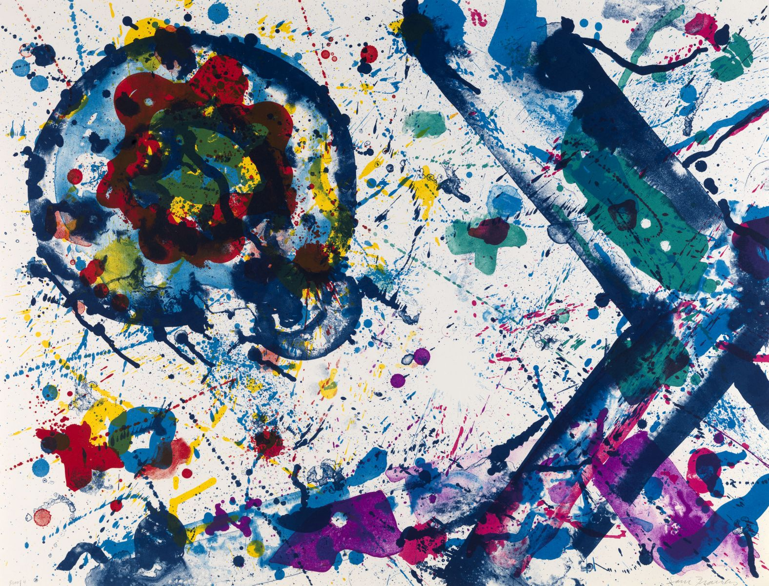 Sam Francis,  Untitled , 1986, Lithograph, Edition of 50, 67.3 x 88.9 cms (26 1/2 x 35 ins)