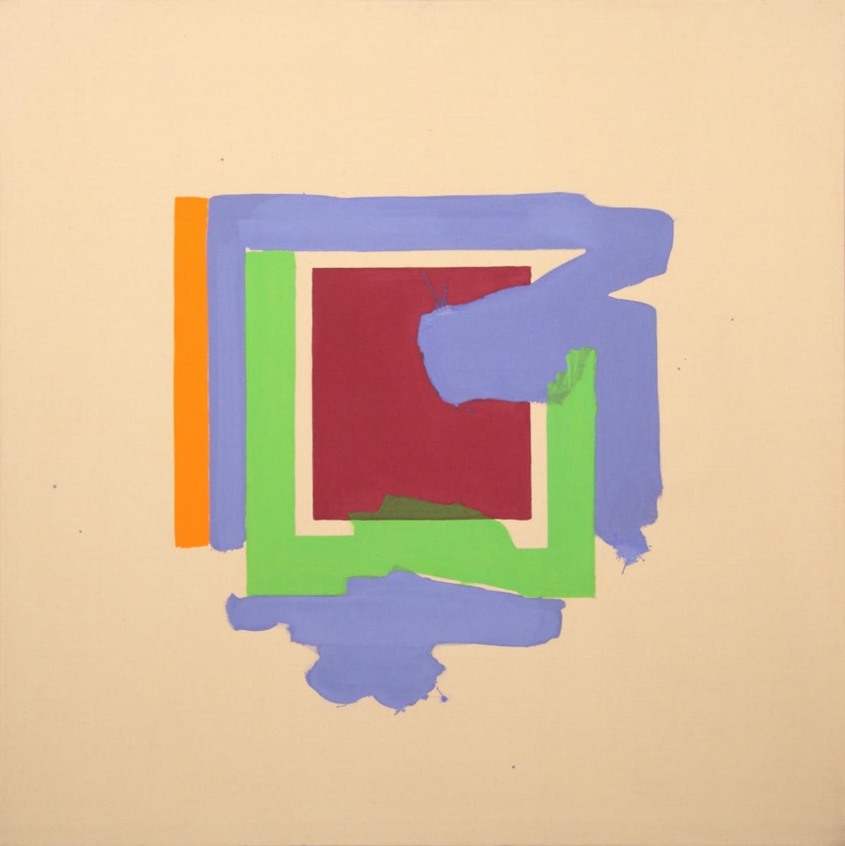Marc Vaux,  Incursion , 1964, Acrylic on cotton duck, 172.7 x 172.7 cms (68 x 68 ins)