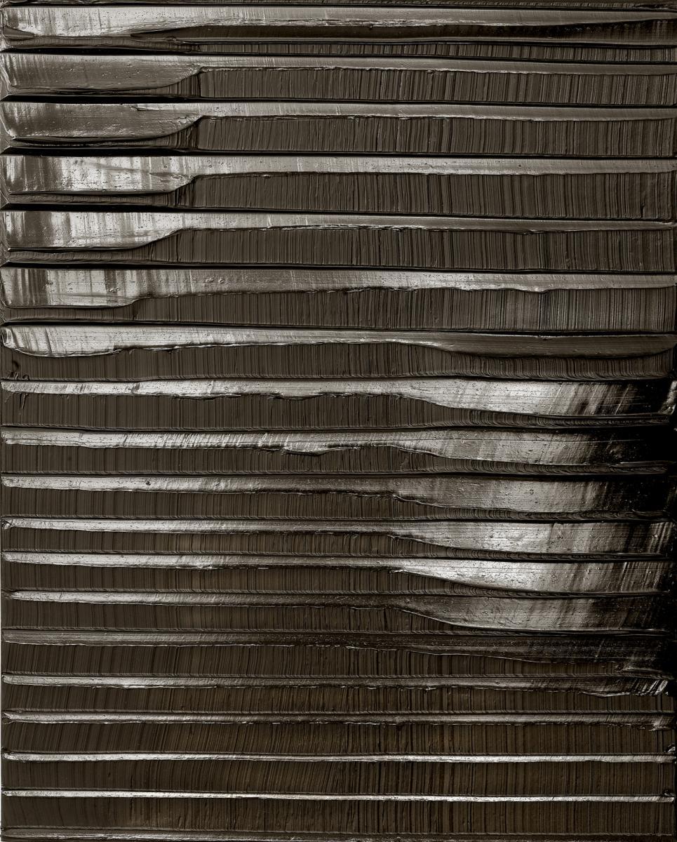 Pierre Soulages,  Peinture 130 x 102 cm, 10 Janvier, 2010 , 2010, Acrylic on canvas, 130 x 102 cms (51 1/8 x 40 1/8 ins)