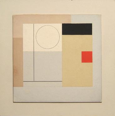 Ben Nicholson, Painting 1943 (version VI midget) 19.1 x 19.1 cms (7 1/2 x 7 1/2 ins)