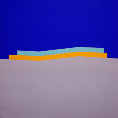 Wake, 1965, Acrylic on cotton duck, 213 x 213 cms