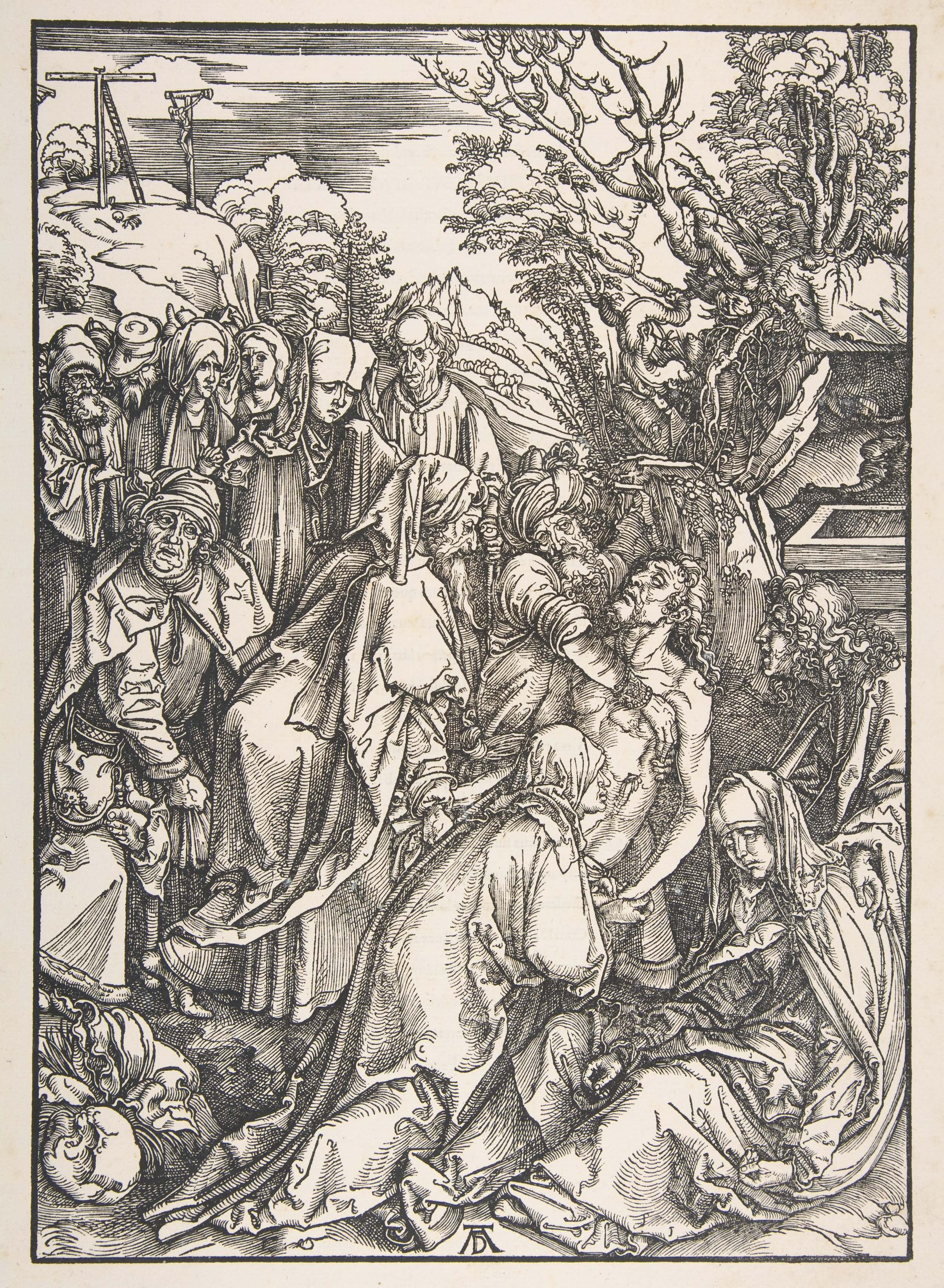 Albrecht Dürer, The Deposition of Christ from the Large Passion, Woodcut, 17 5/16 x 12 ins (43.9 x 30.5 cms)