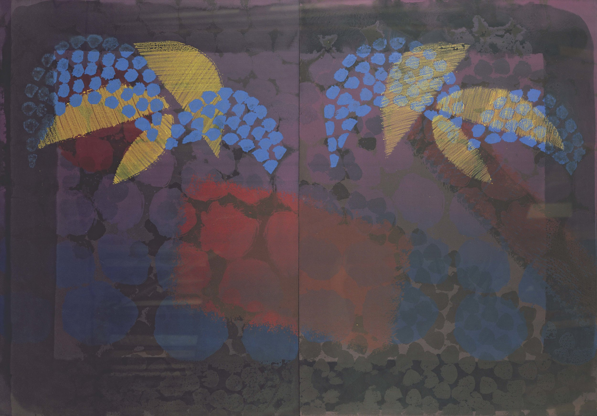 Howard Hodgkin, for bernard jacobson, 1979, Lithograph with hand colouring, Edition of 80, 105 x 149.9 cms (41 1/3 x 59 ins)