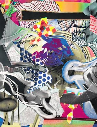 Frank Stella, Die Marquise von O (panel 2), 1999, mixed media on canvas, 284.5 x 215.9 cms (112 x 85 ins)