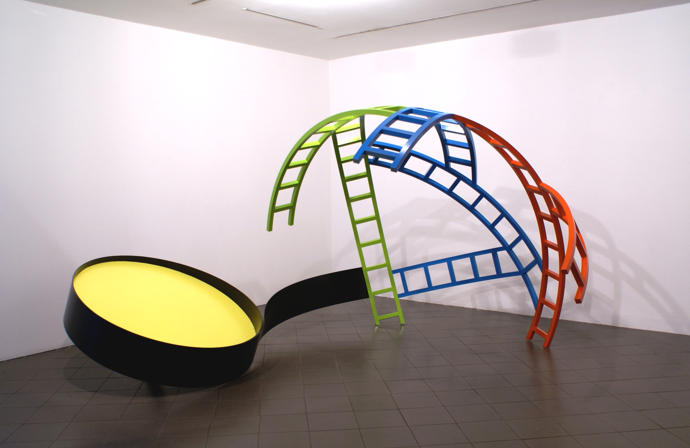 Yellow Disc, 2006/07, Ed 3, Steel, 200 x 435 x 272 cms (78.74 x 171.26 x 107 ins)