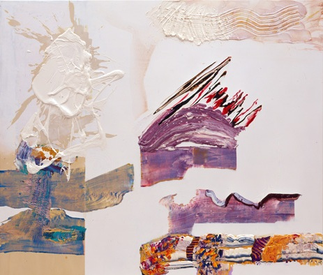 Tettnang, 2006, Oil and silkscreen on wood, 260 x 200 cms (102 x 78 ins)