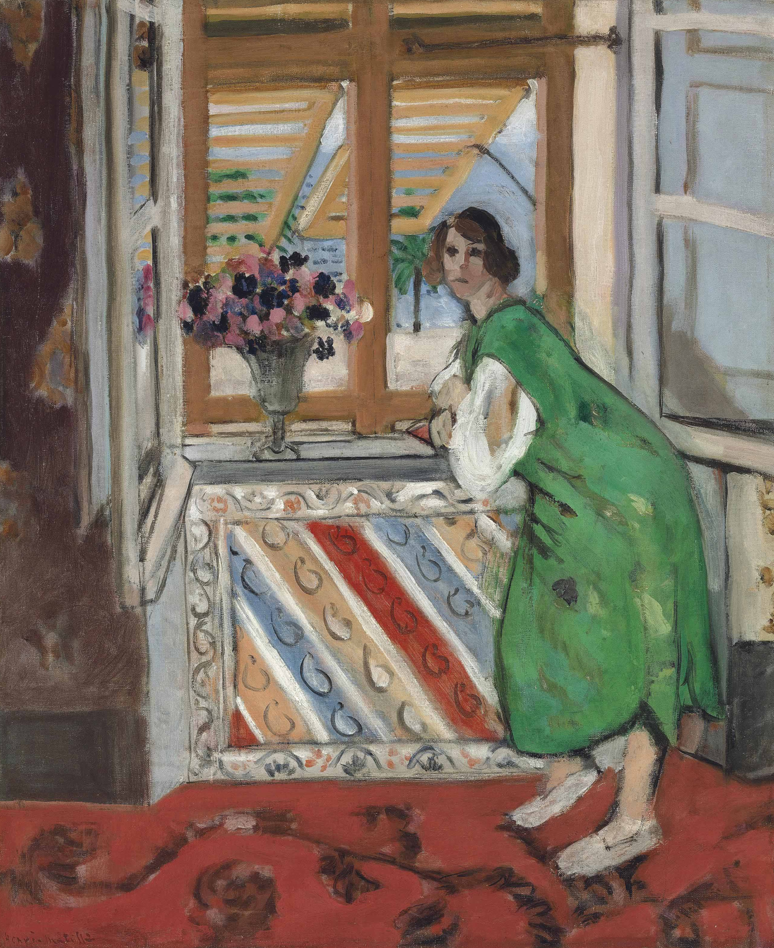 Henri Matisse, Jeune fille a la mauresque, robe verte, 1921, Oil on canvas, 66 x 55 cms (26 x 21 5/8 ins)