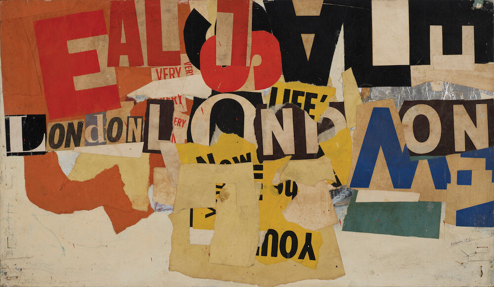 Robyn Denny, 2A (13) Austin Reed maquette, 1958, Oil and collage on board, 35.6 x 61 cms (14 x 24 ins)