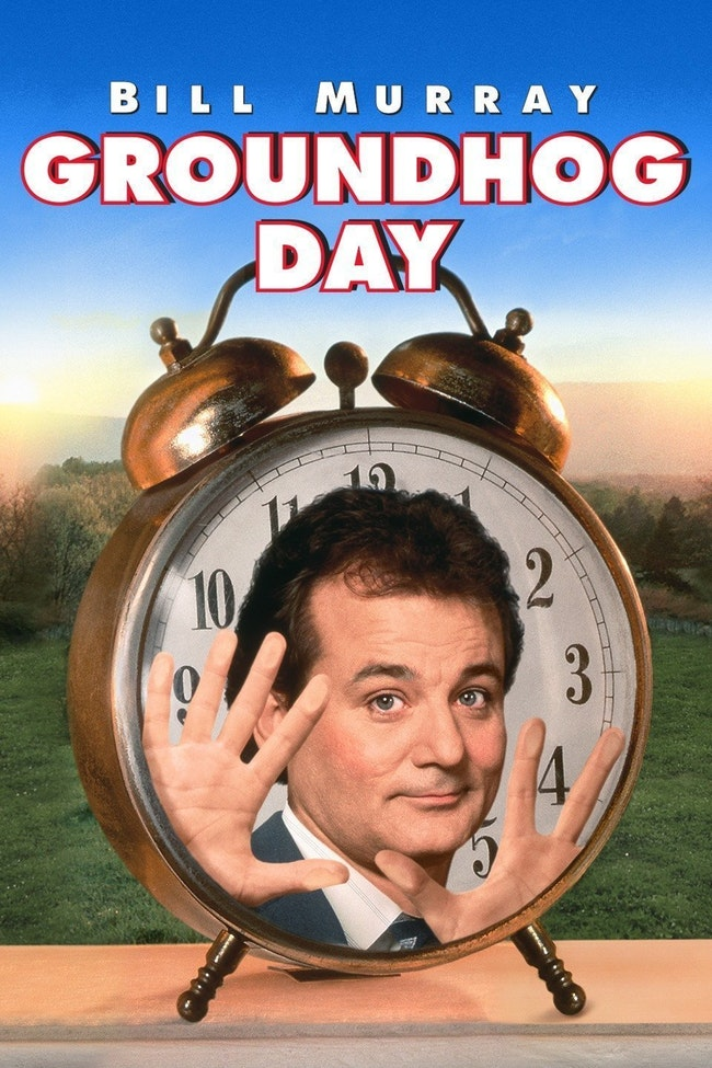 Groundhog Day  | A weatherman (Bill Murray) is trapped in a personal time warp on the worst day of his life. Co-stars Andie MacDowell.