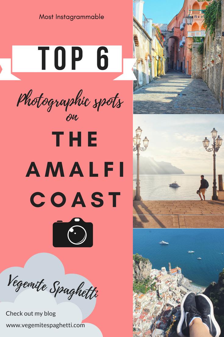 Most photographic spots on the Amalfi Coast