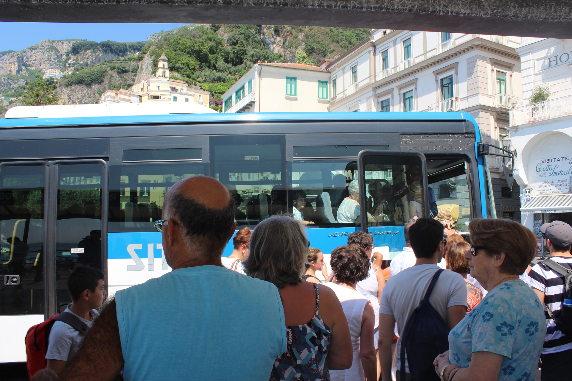 Travelling by bus to the Amalfi Coast