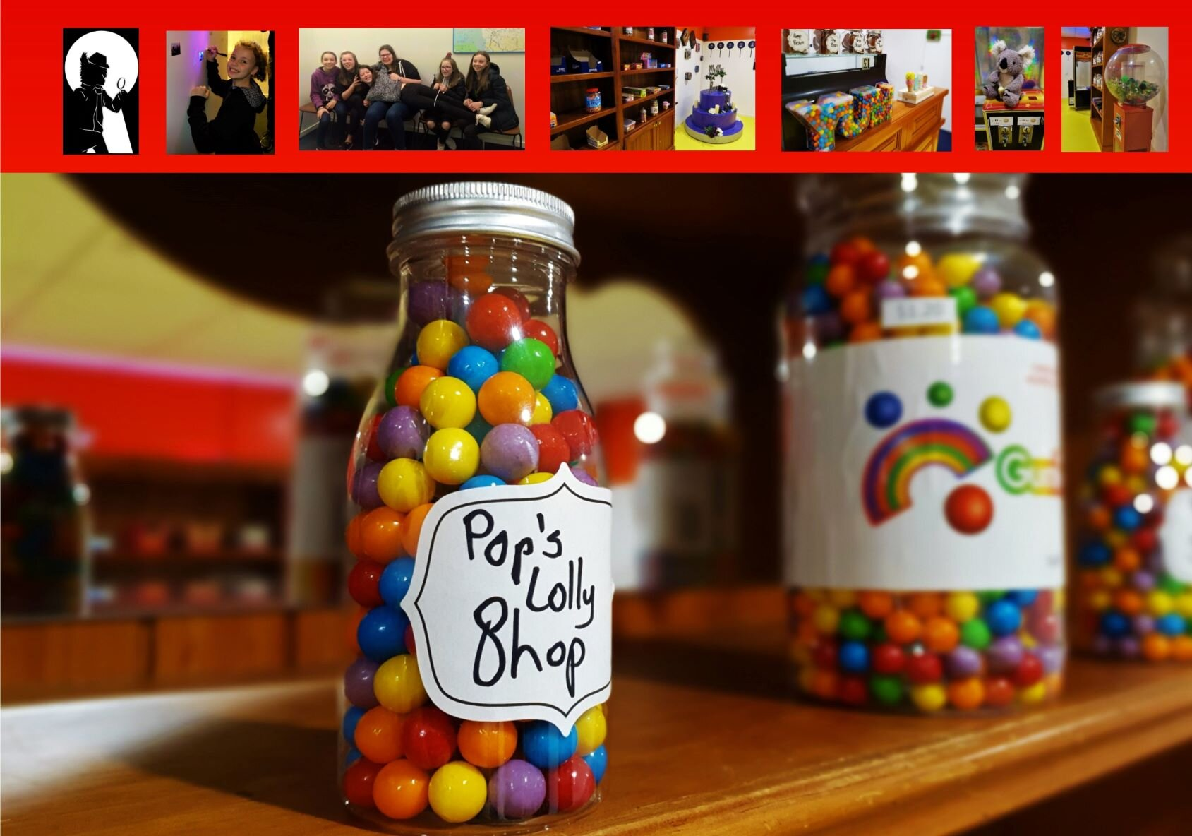 THE LOLLY SHOP - &Various mini games and challengesFacility hire for 3 HoursNibbles & Soft-drink2 Game Masters for the entire timeSuit 10-24 Players$55 PER PERSON
