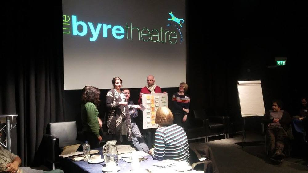 """""""I just wanted to thank all the team for organising such a brilliant event. I learnt a lot and found the programme really interesting. It was one of the most comprehensive and practical training programmes I've been on so far.""""  A Creative Enlightenment Programme - The Byre Theatre  SGSAH  2015."""