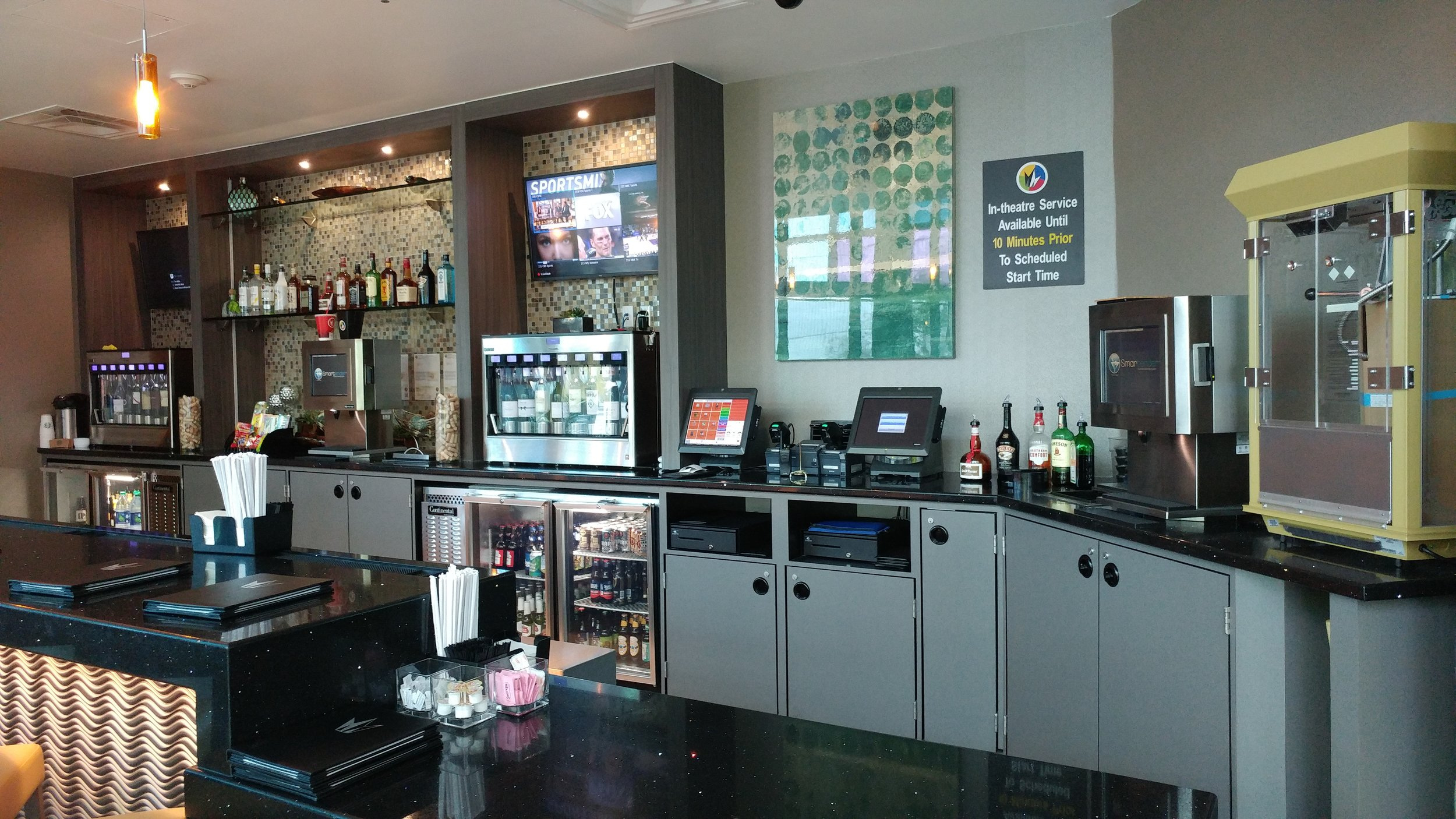 A National Movie Theater Chain FOH Lobby Bar