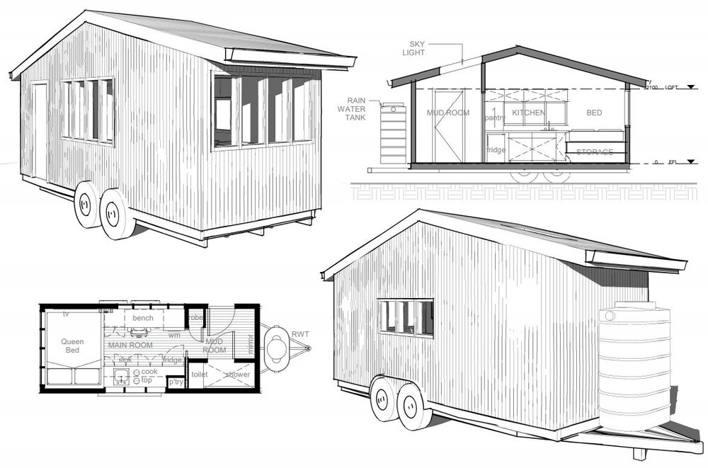 Free Tiny House Plans Env Design Sustainable Design Canberra
