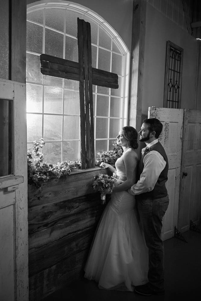 Indoor rustic ceremony pearland
