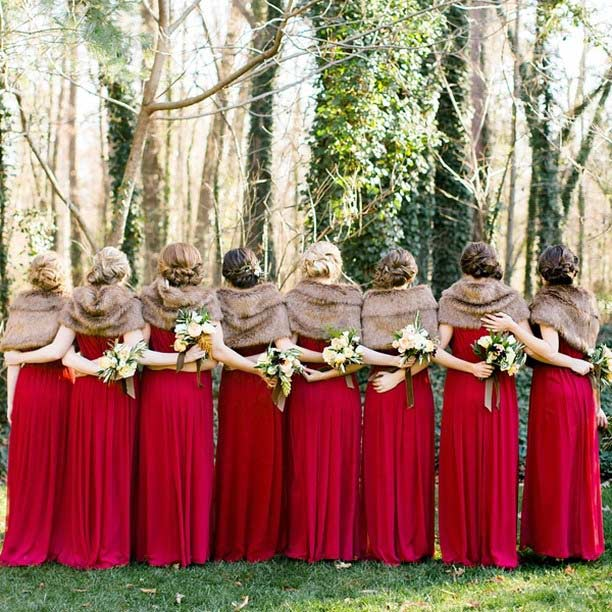red & furry - Source: Southern Weddings Photography