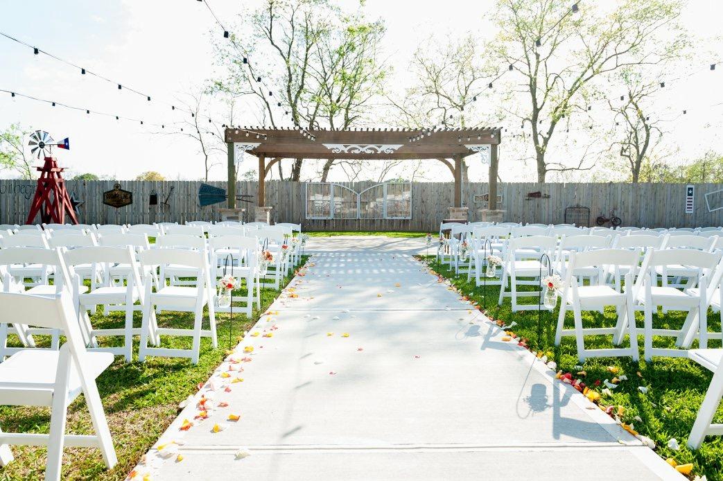 Orange & Navy Blue Summer Texas Wedding