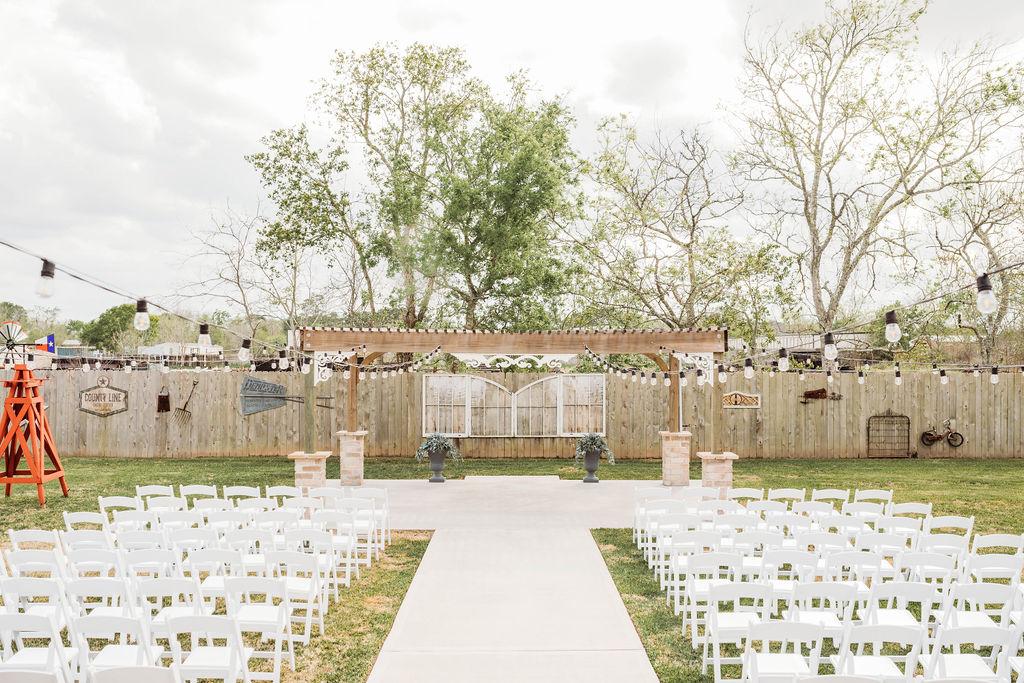 Outdoor Houston Wedding Venue