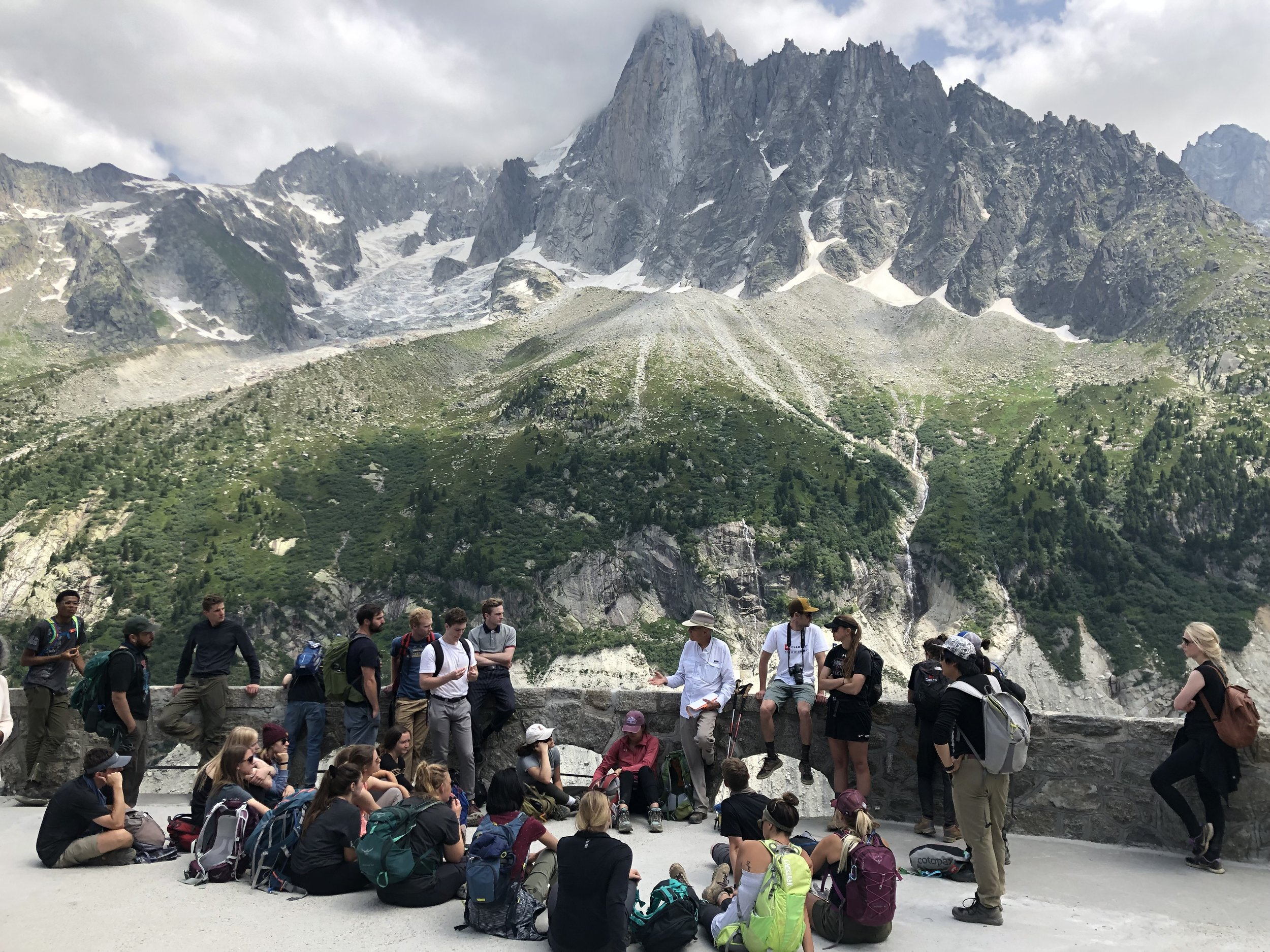 Learning about glaciers at the Mer de Glace glacier