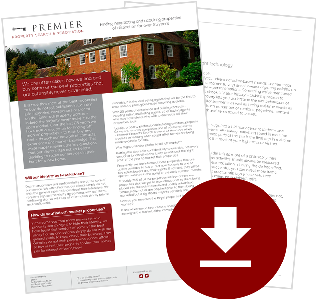 Download our white paper on the benefits of retaining a property search agent