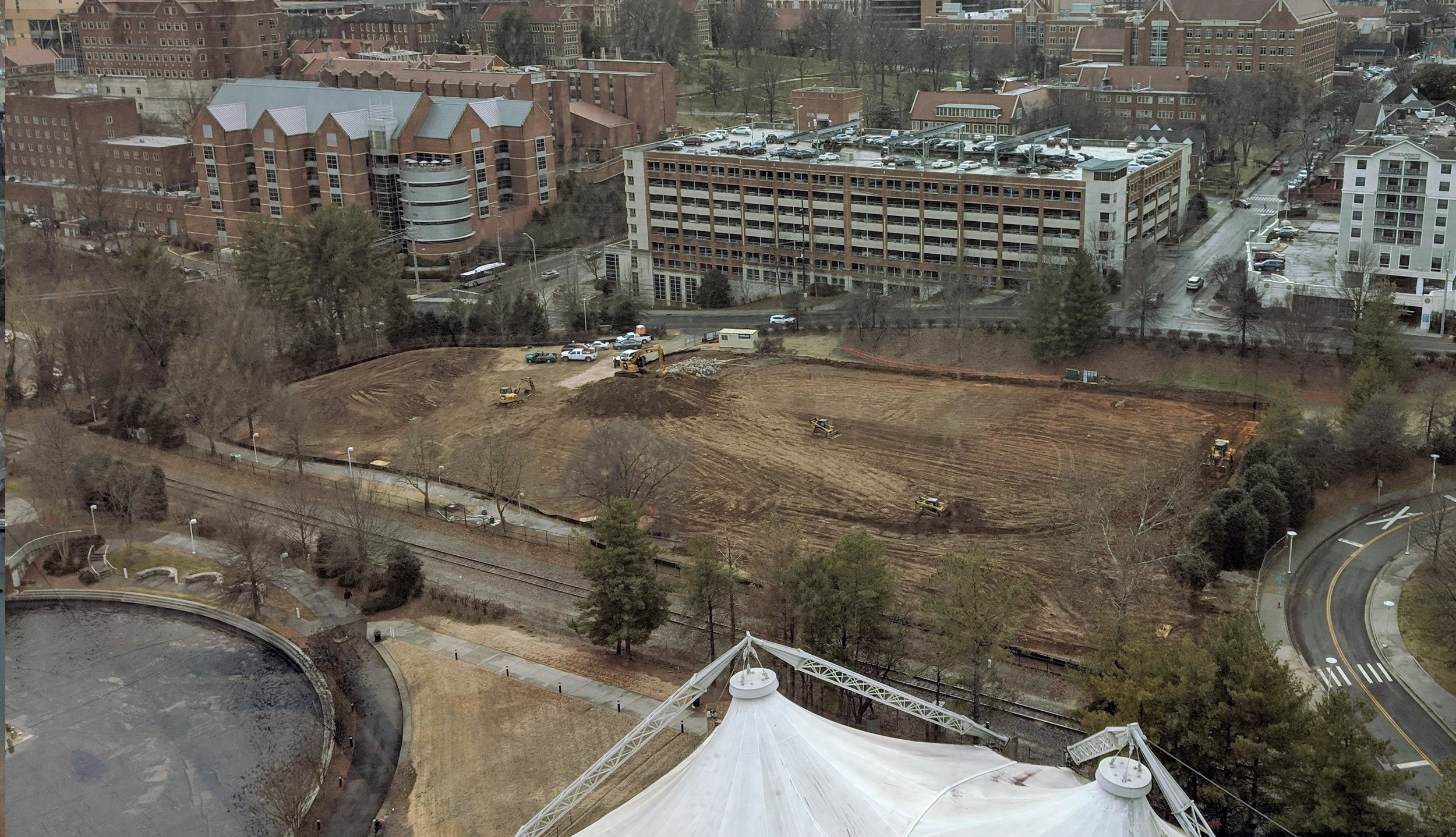 February 4, 2019 -- Site Demo and Rough Grading Underway