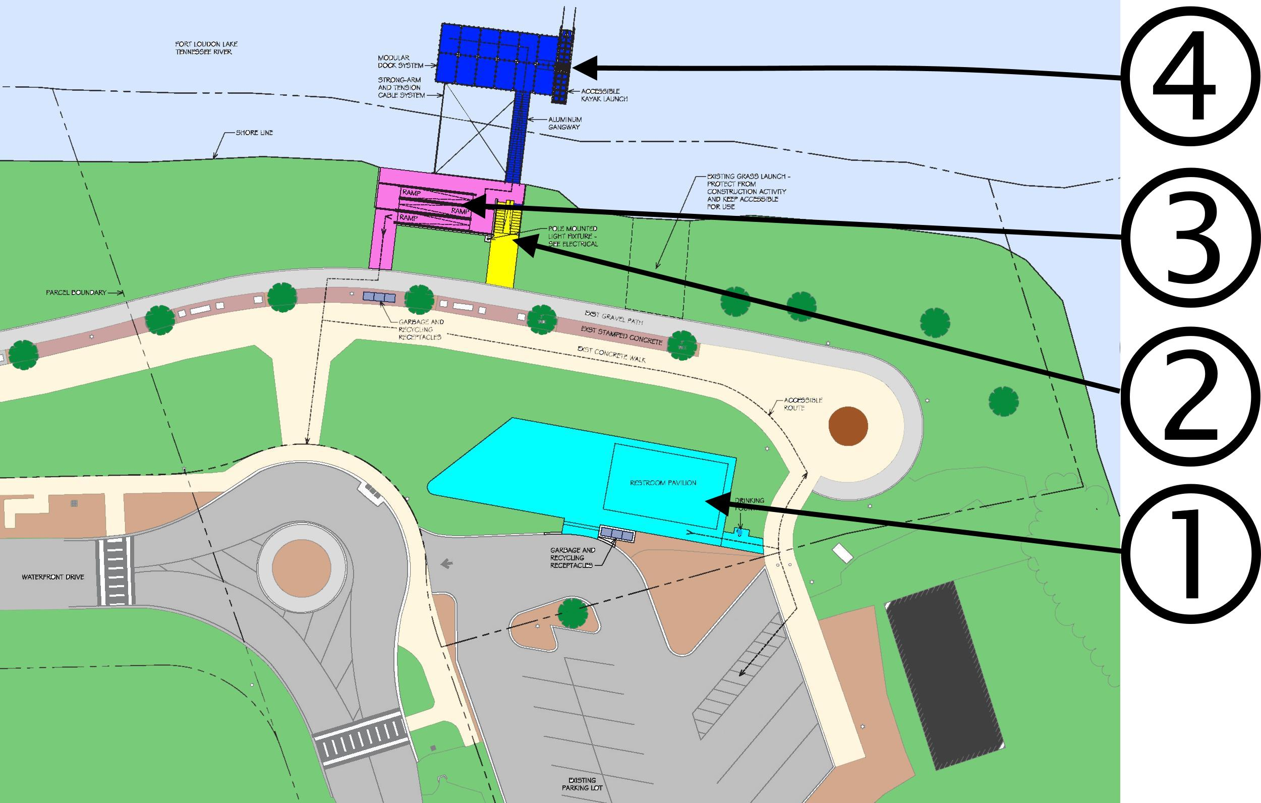 Suttree Landing Pavilion and Overlook Site Plan (Numbered).jpg