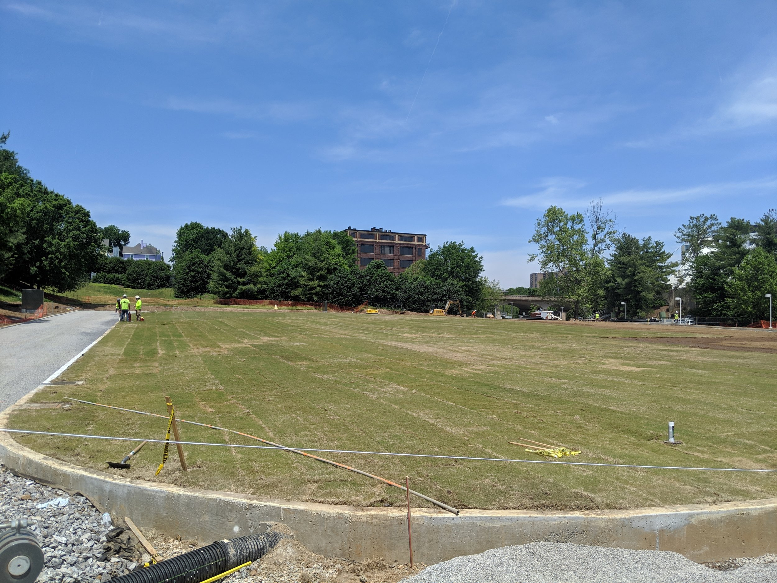 Sod Installation ~ 50% Complete