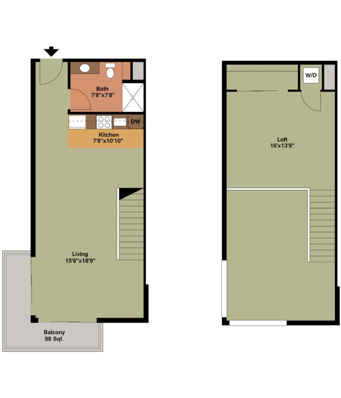 NEGRONI - 1 bedroom   1 bathroom880 Square Feet$1,700 - 1,900
