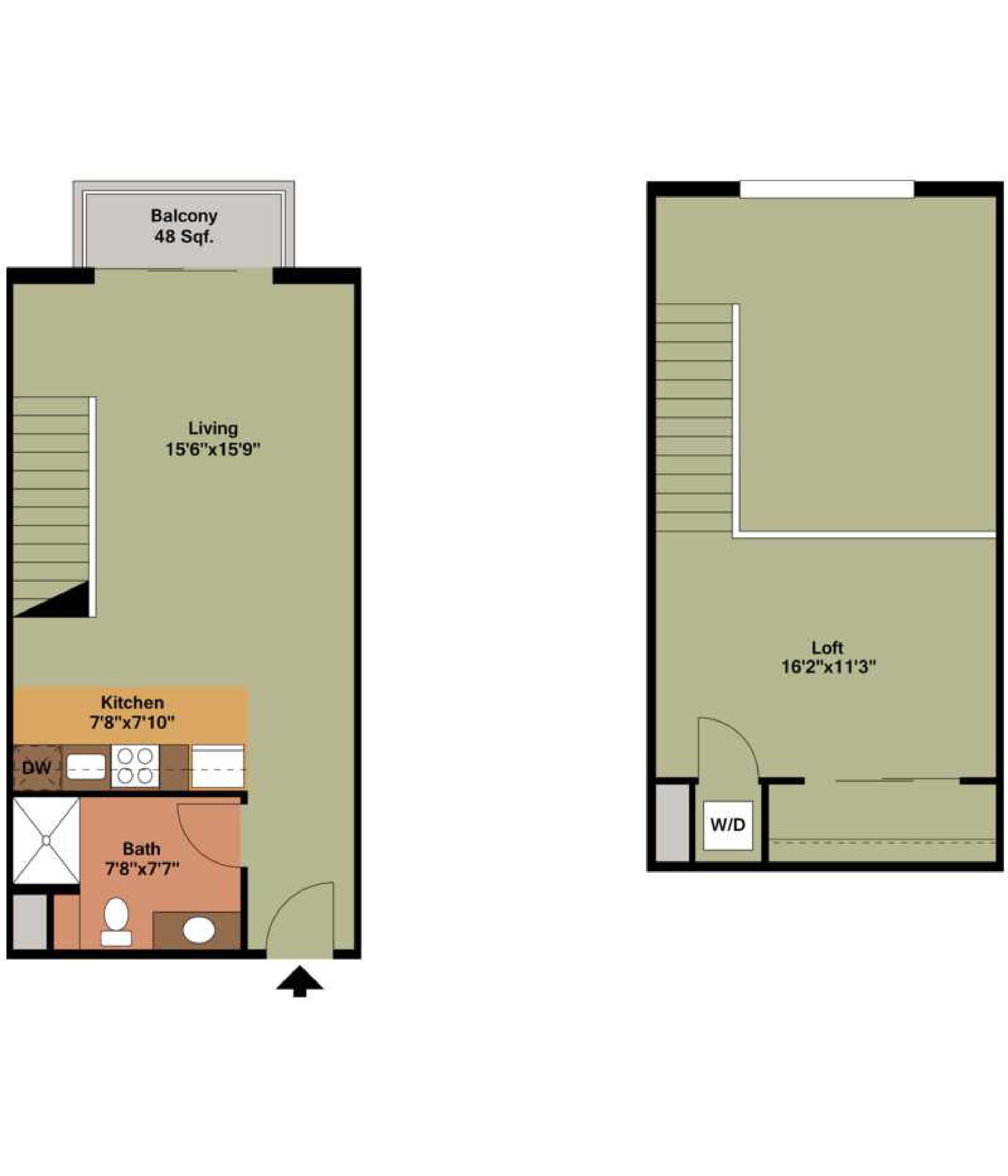 OLD FASHIONED - 1 bedroom   1 bathroom780 square feet$1,400 - 1,550