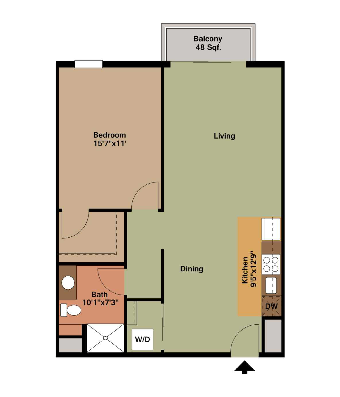 BELLINI - 1 bedroom   1 bathroom750 square feet$1,450 - 1,500