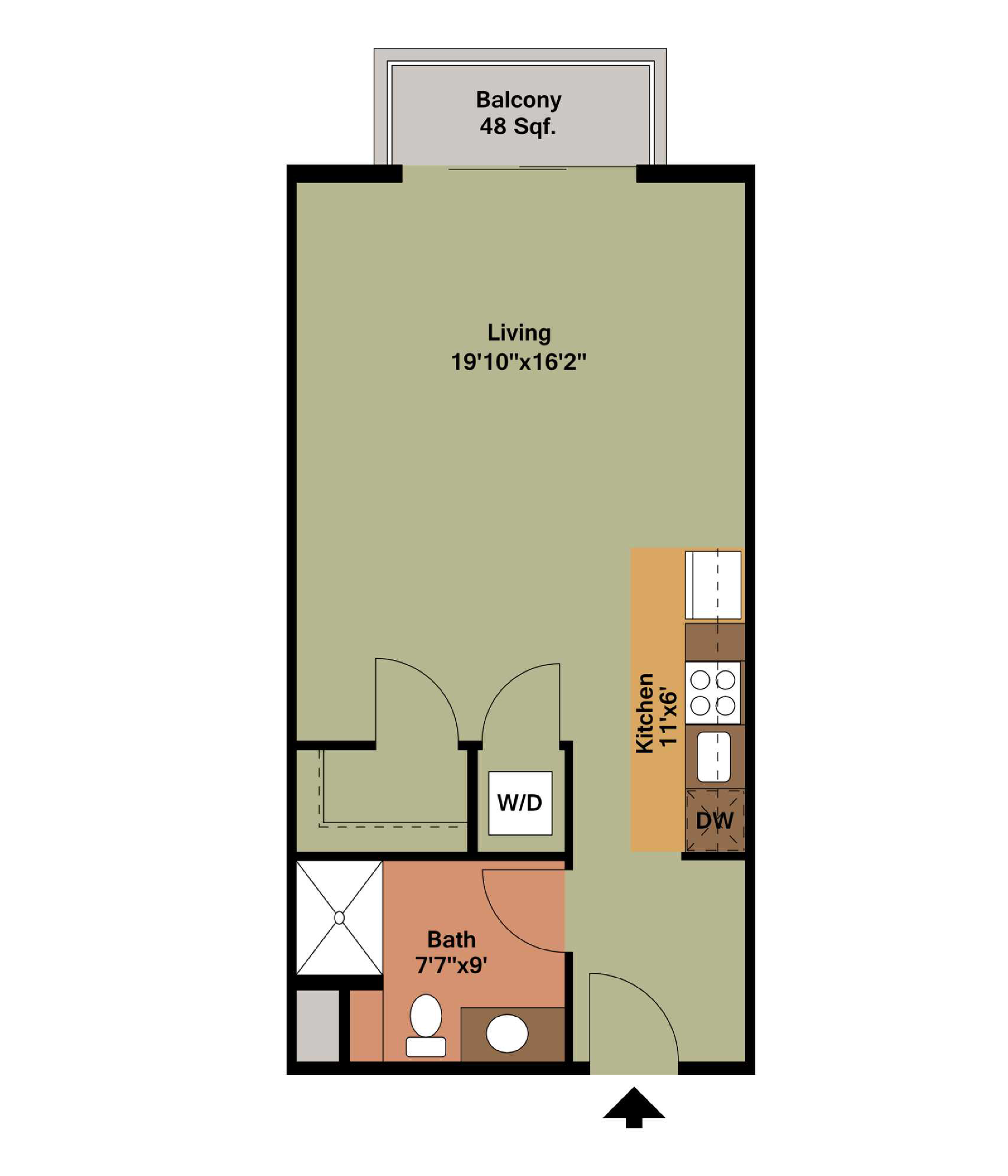 MOSCOW MULE - studio   1 bathroom510 square feet$1,150 - 1,425