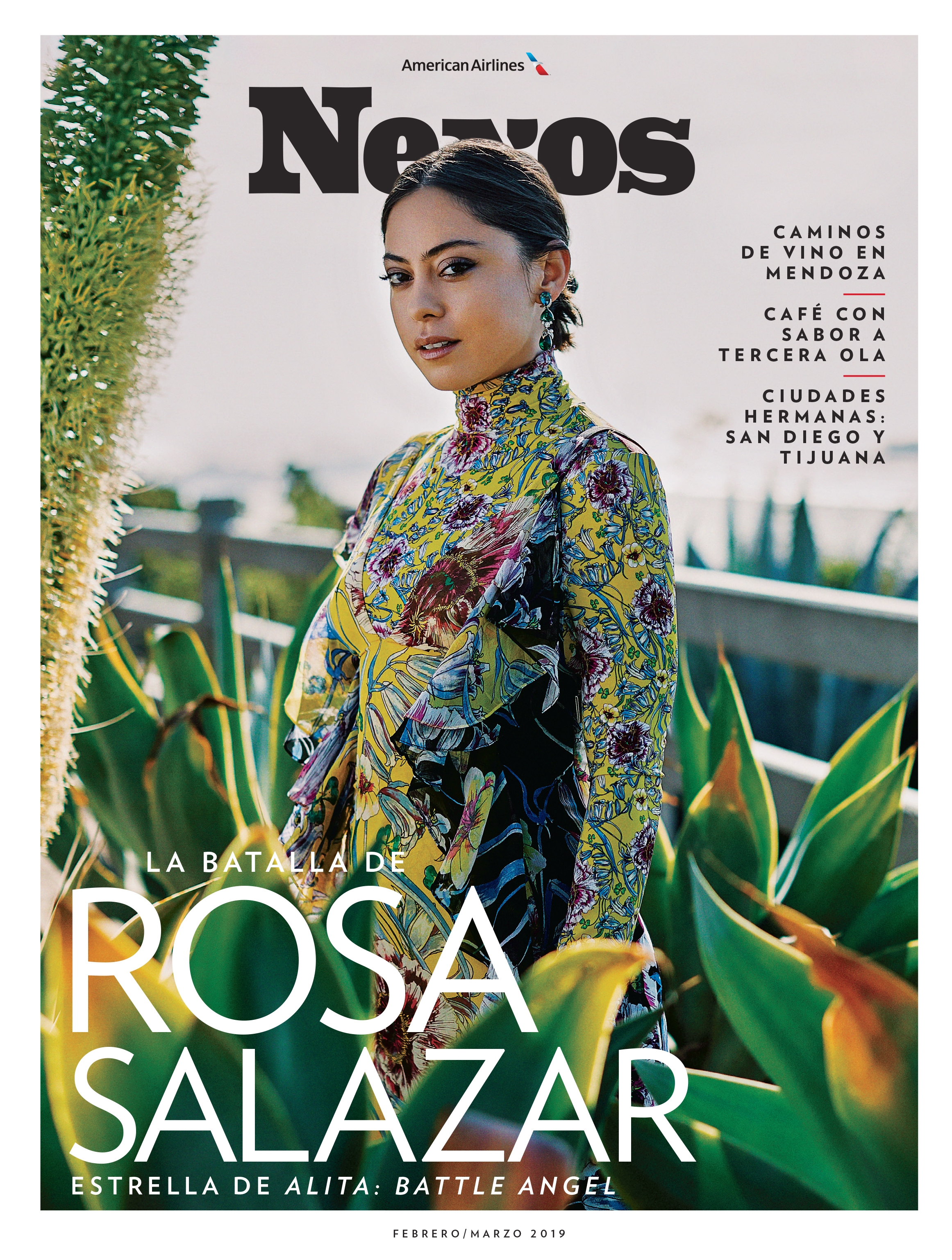 Rosa Salazar for Nexos Magazine February/March 2019 Issue Styled by Natalie Hoselton