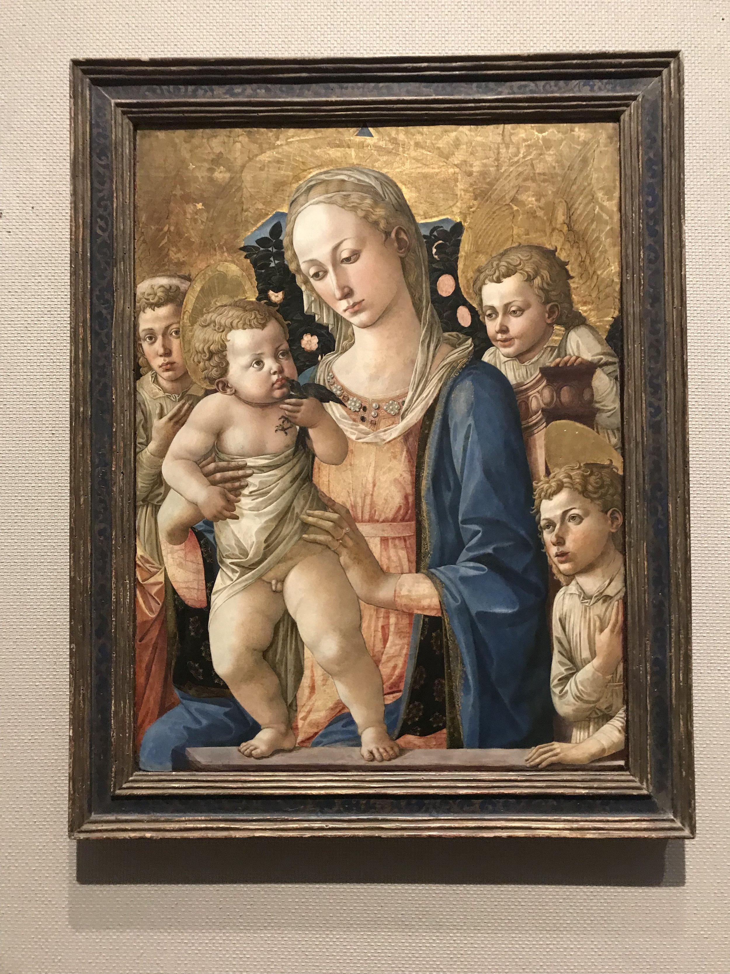 "Pesellino, ""Madonna and Child with Saint John"""