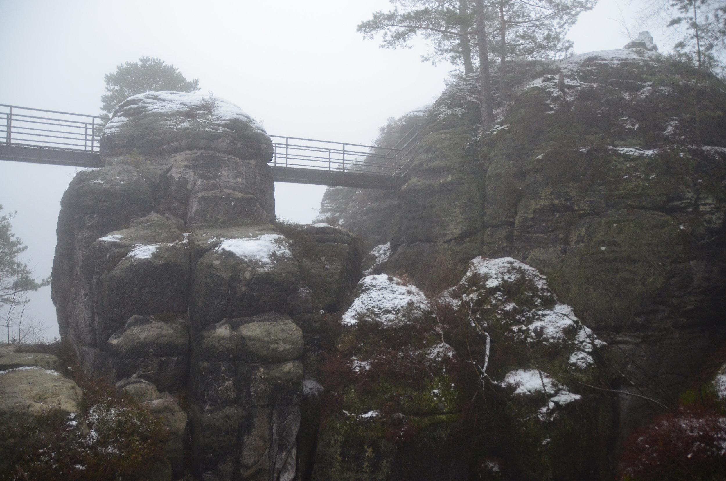 A network of metal bridges in the area of the park near the Bastei Bridge, allow people to reach even the most inaccessible locations.