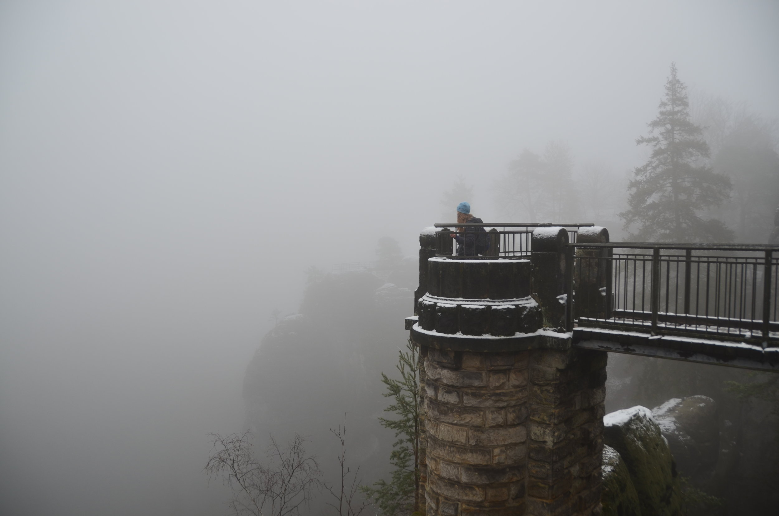 Taking in the views (or the mist!)