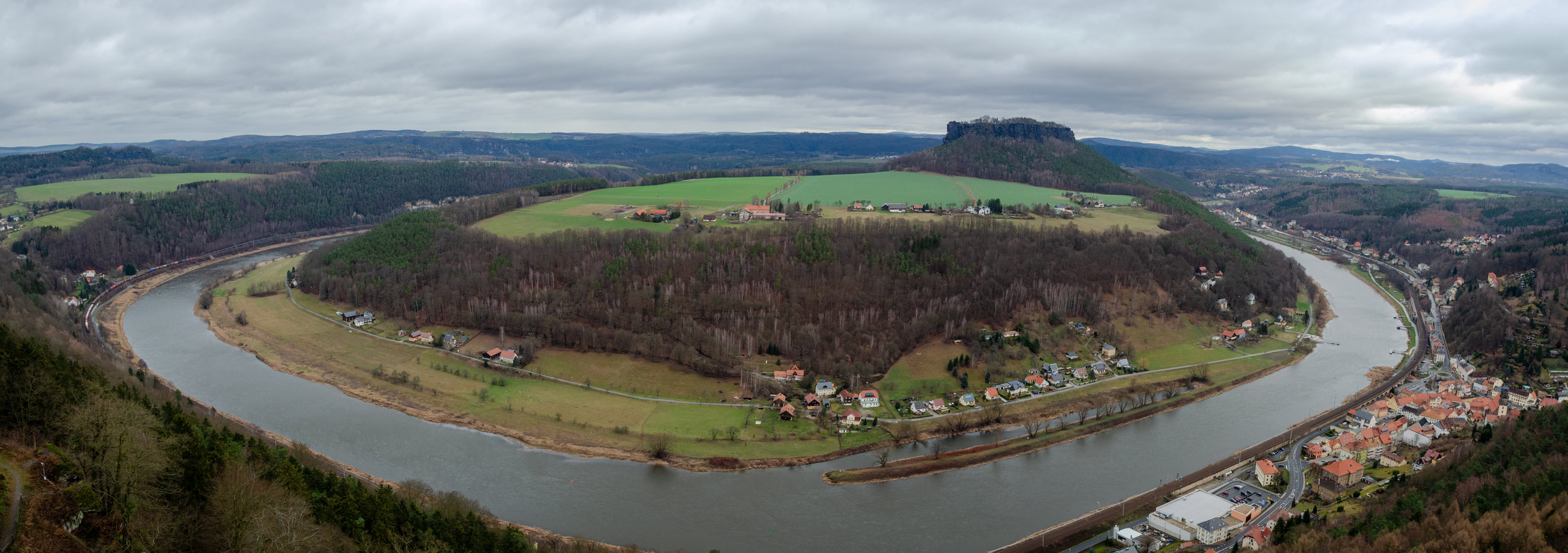 The panoramic view from the top