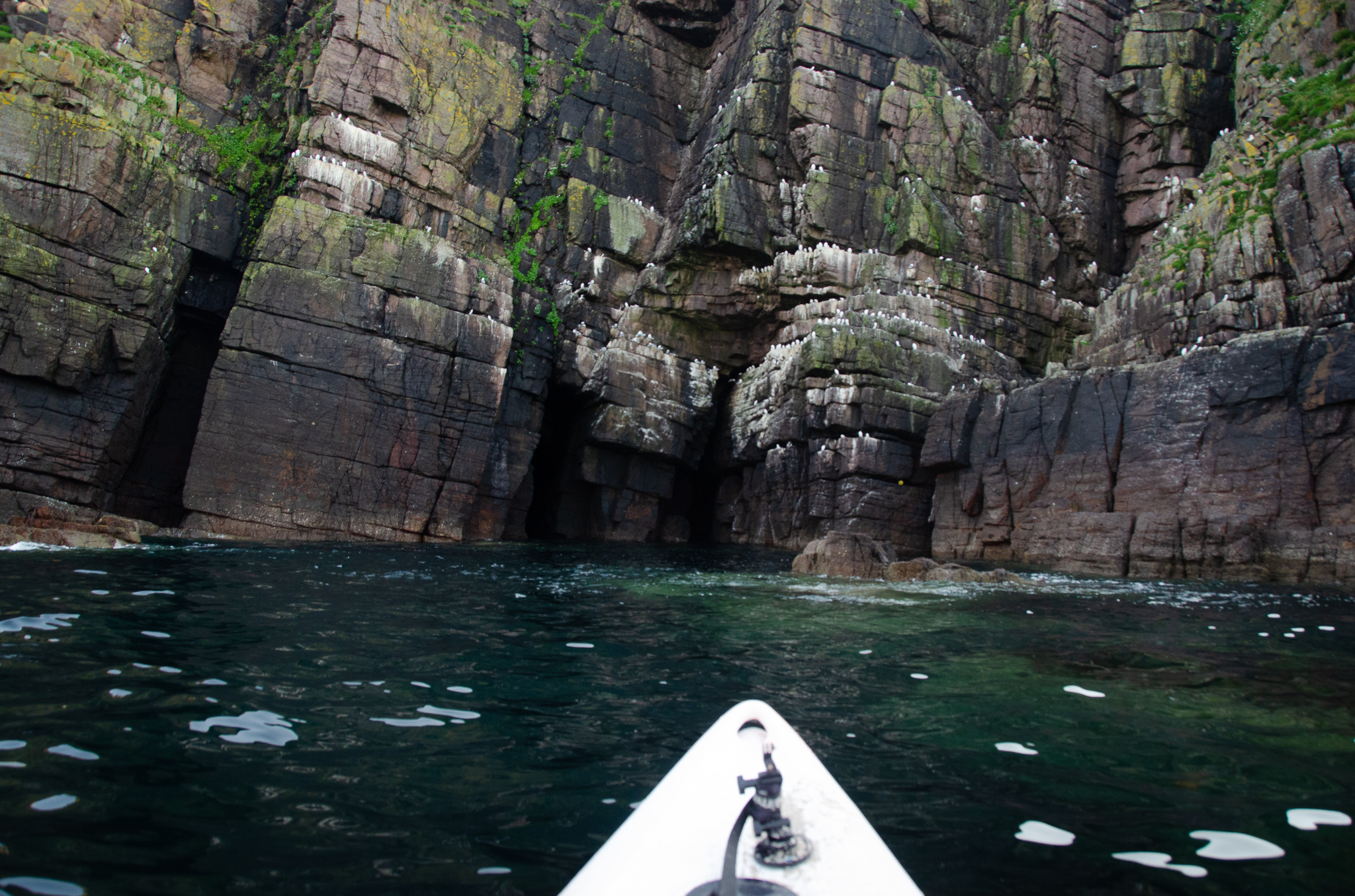 Approaching the cliffs in the sound of Handa