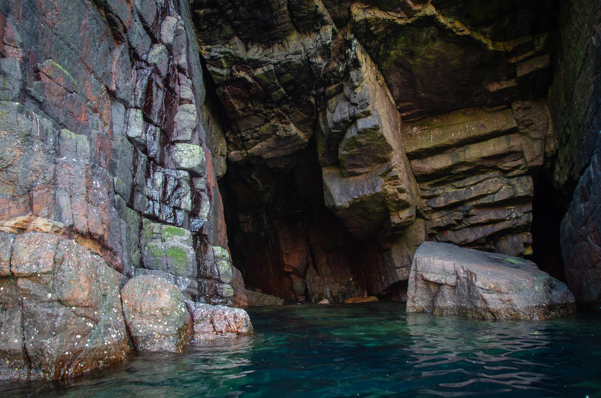 Handa Island's hidden inlets